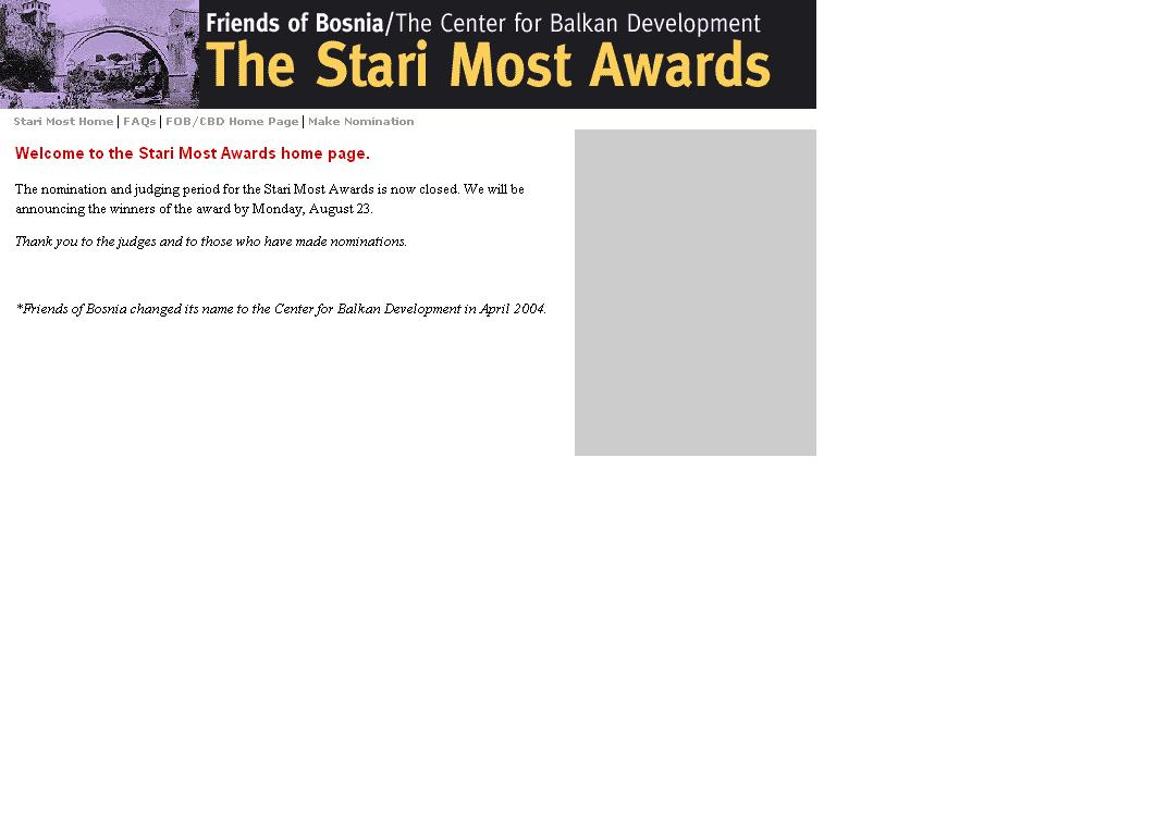 The Stari Most Awards